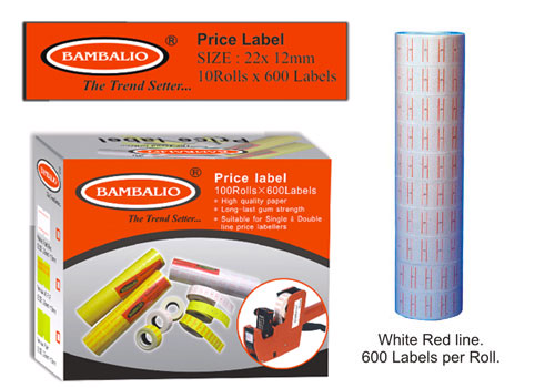 Price Label Rolls