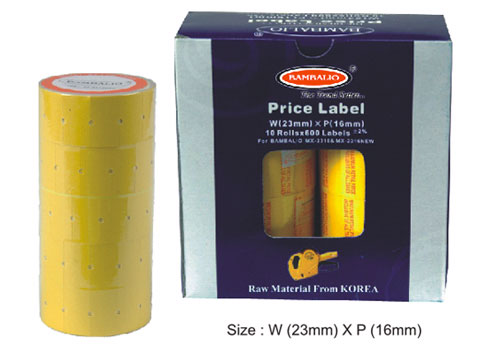 Double Price Label Rolls