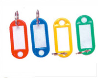 Plastic tag Key Rings